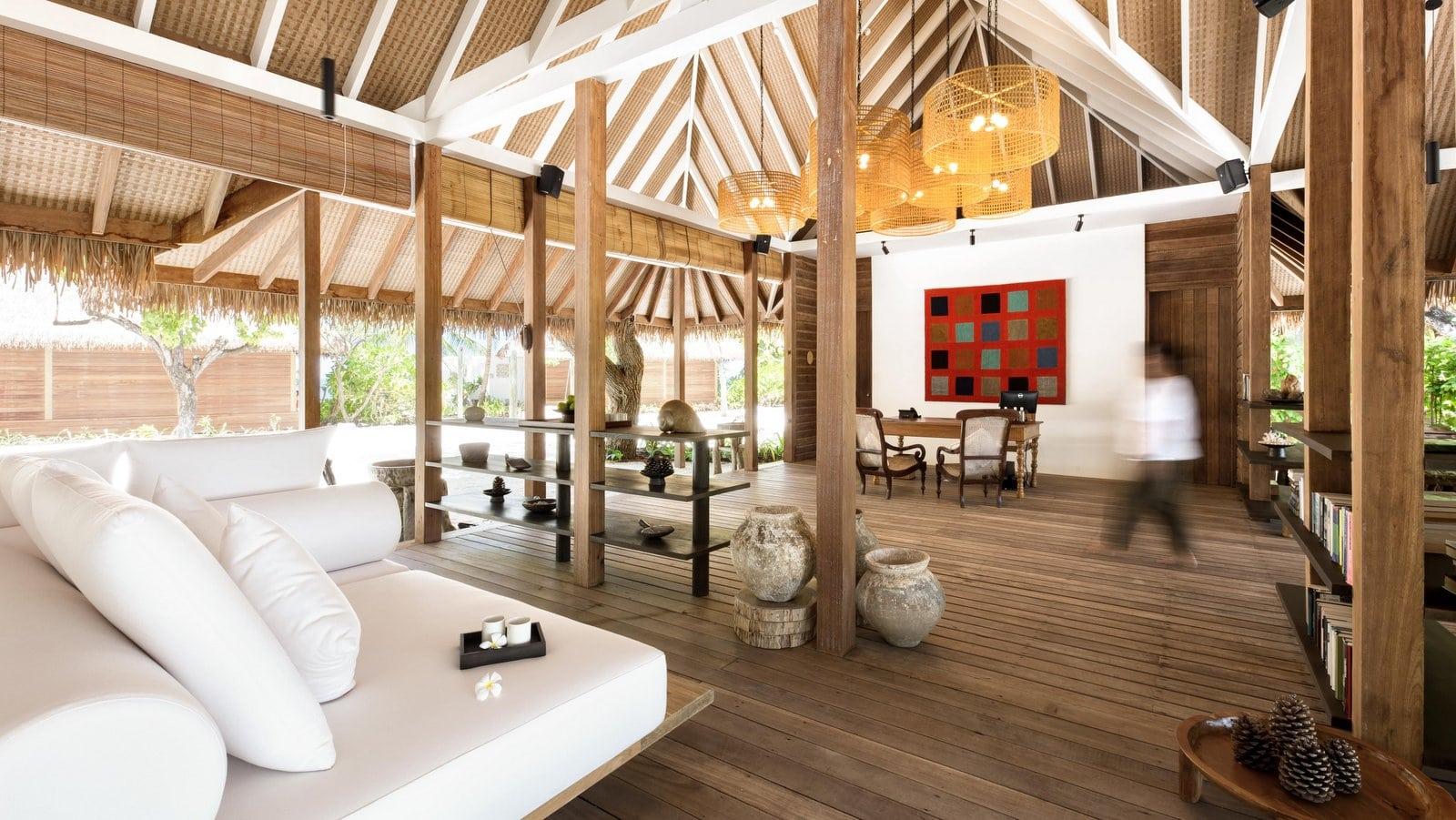 Мальдивы, отель COMO Cocoa Island, лобби