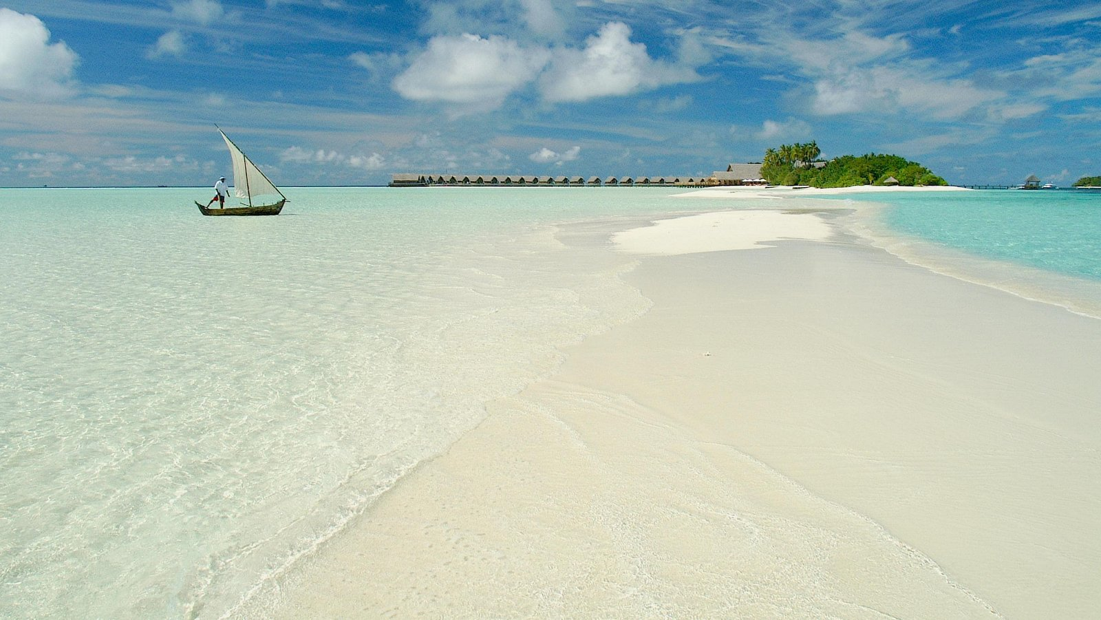Мальдивы, отель COMO Cocoa Island, коса