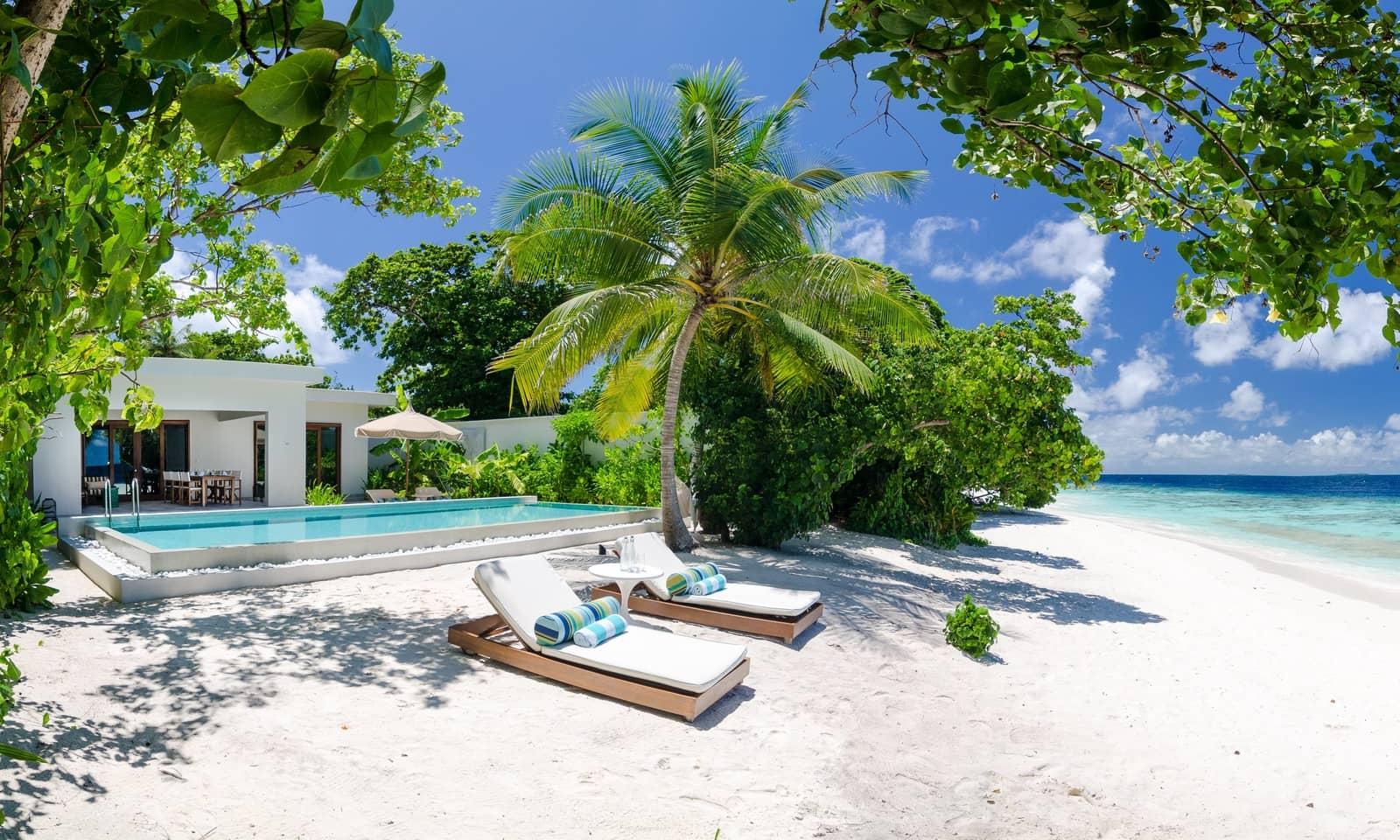 Мальдивы, Отель Amilla Fushi Maldives, номер 2-BedRoom Beach Pool Villa