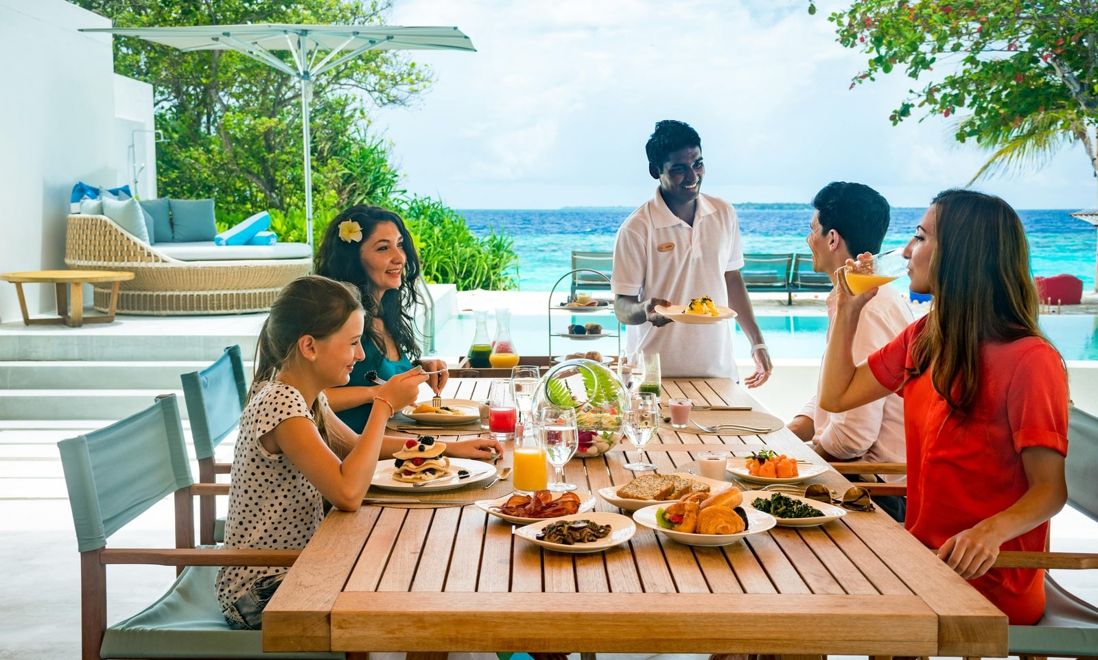 Мальдивы, Отель Amilla Fushi Maldives, номер 4-Bedroom Beach Residence