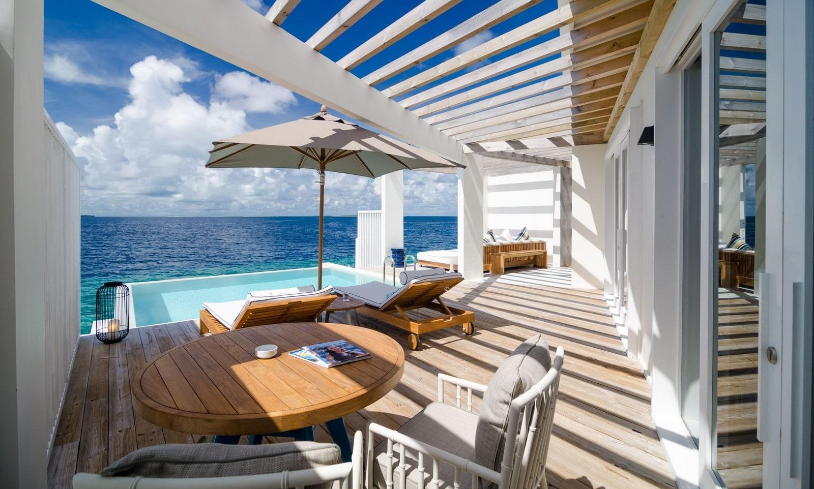 Мальдивы, Отель Amilla Fushi Maldives, номер Reef Water Pool Villa