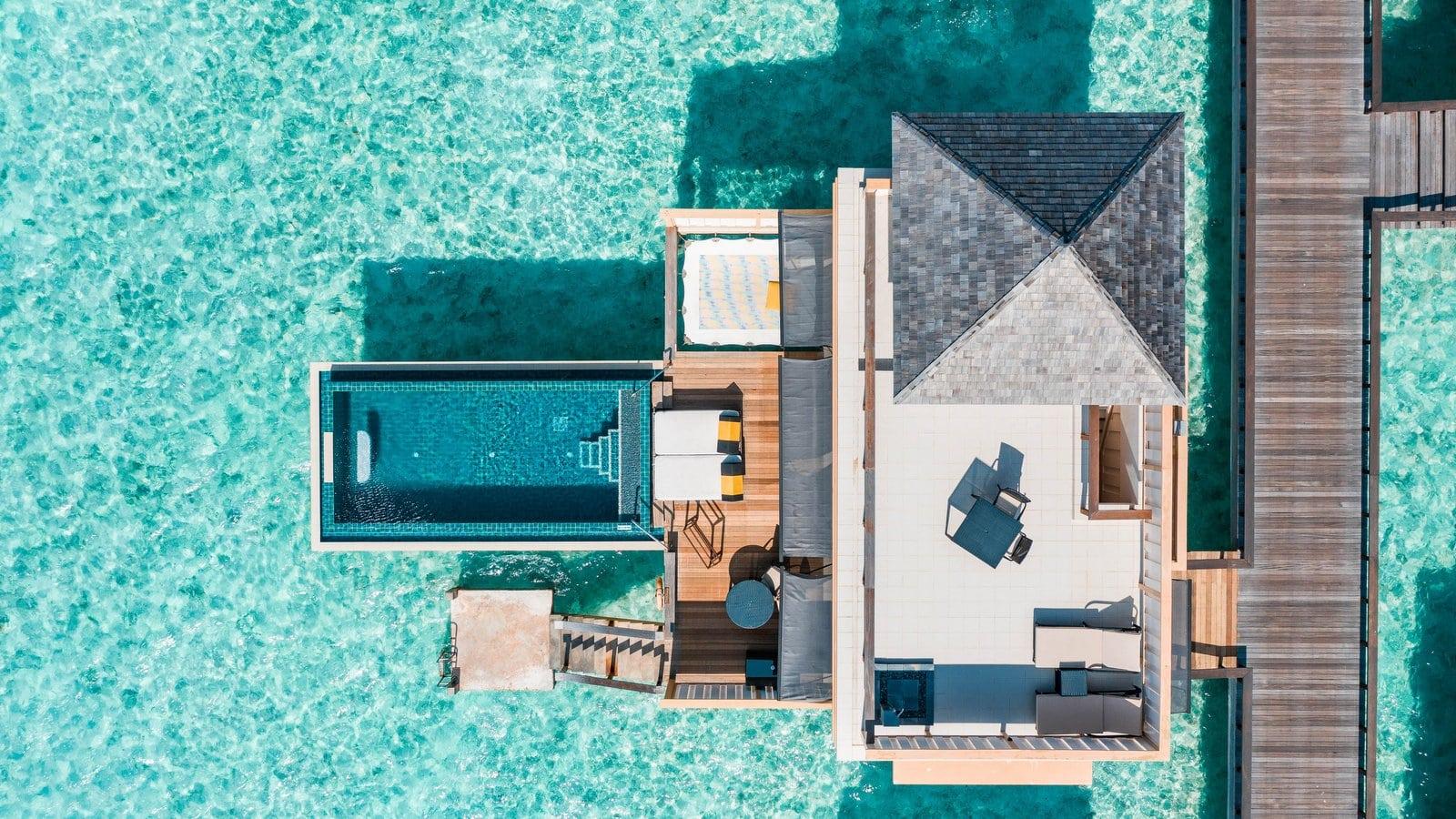 Мальдивы, отель Angsana Velavaru, водная вилла