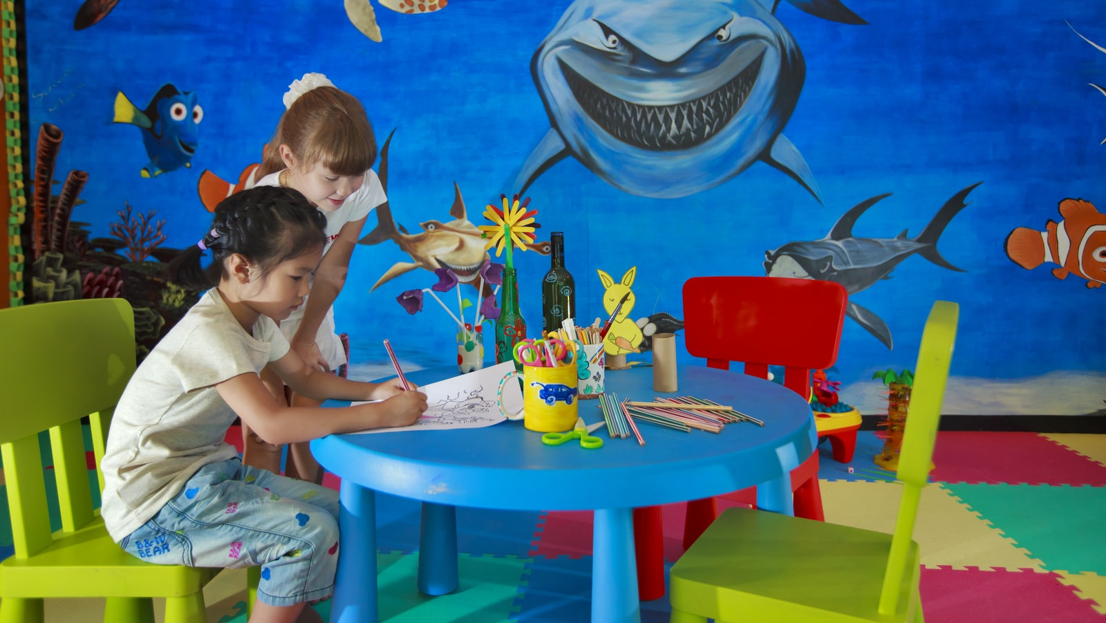 Мальдивы, отель Angsana Velavaru, детский клуб