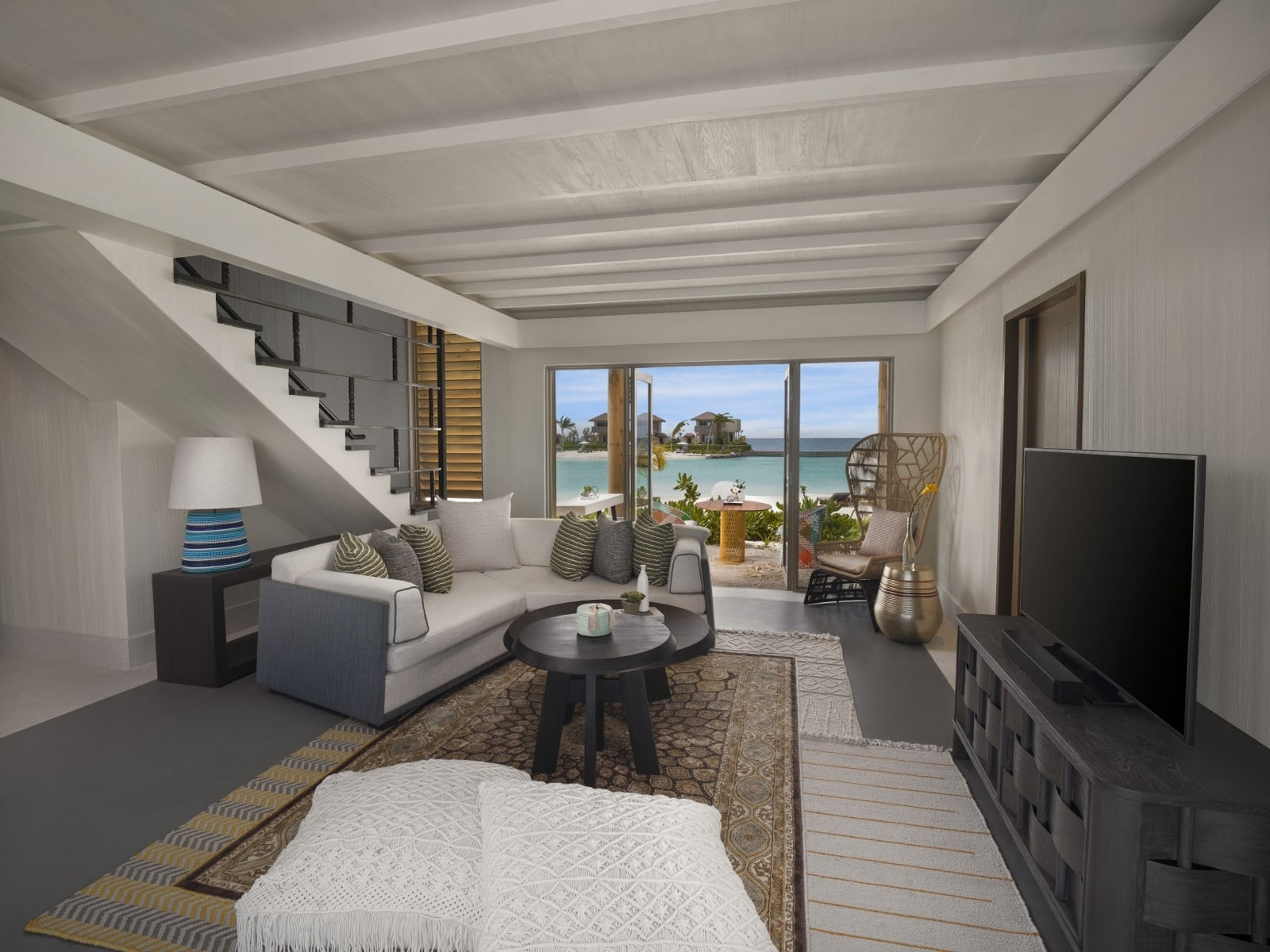 Мальдивы, отель Intercontinental Maldives Maamunagau, номер Two Bedroom Family Lagoon Pool Villa