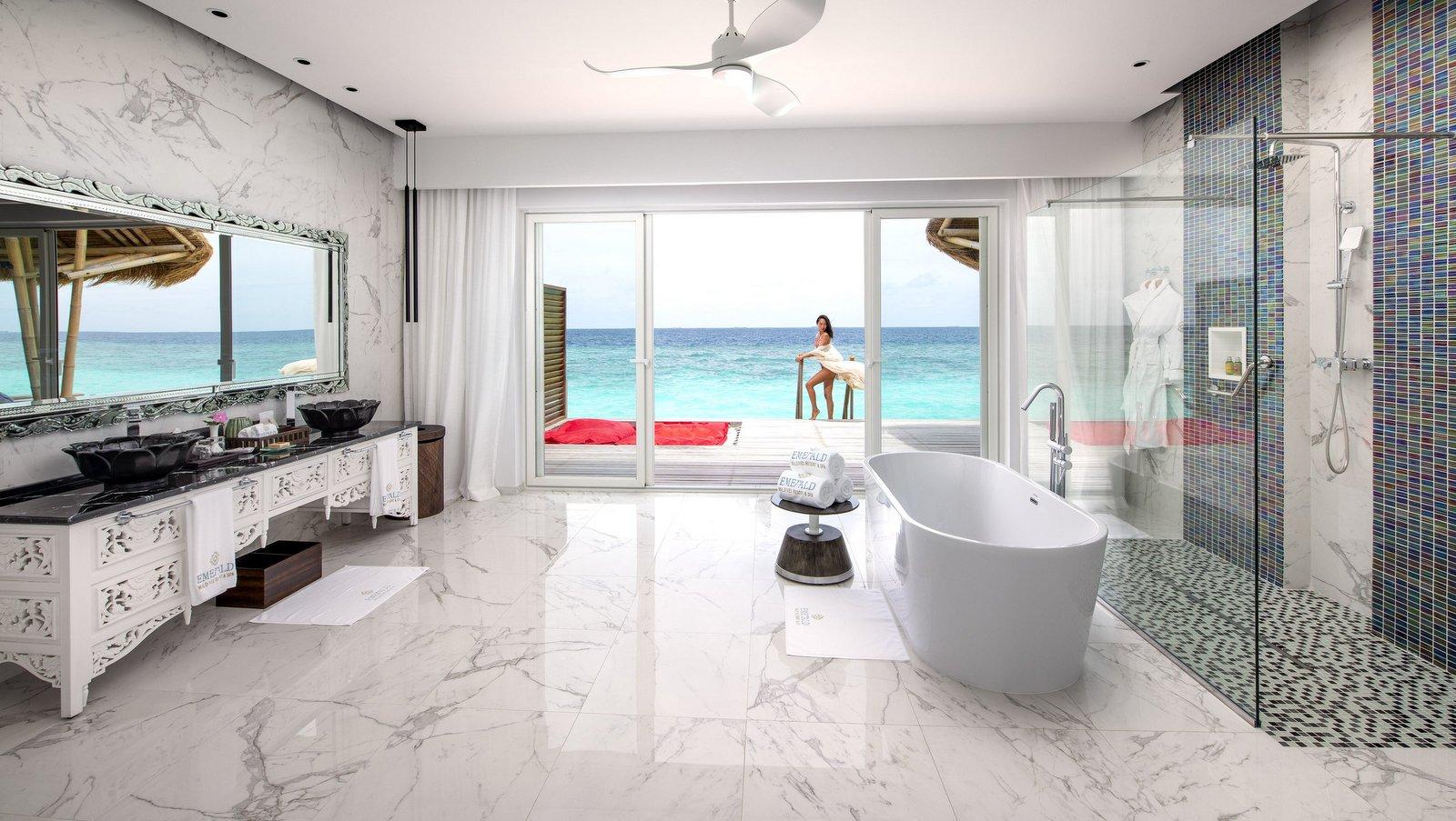 Мальдивы, отель Emerald Maldives Resort & Spa, номер Water Villa