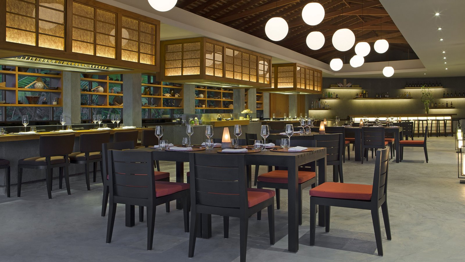 Мальдивы, отель Anantara Veli Resort, ресторан Origami