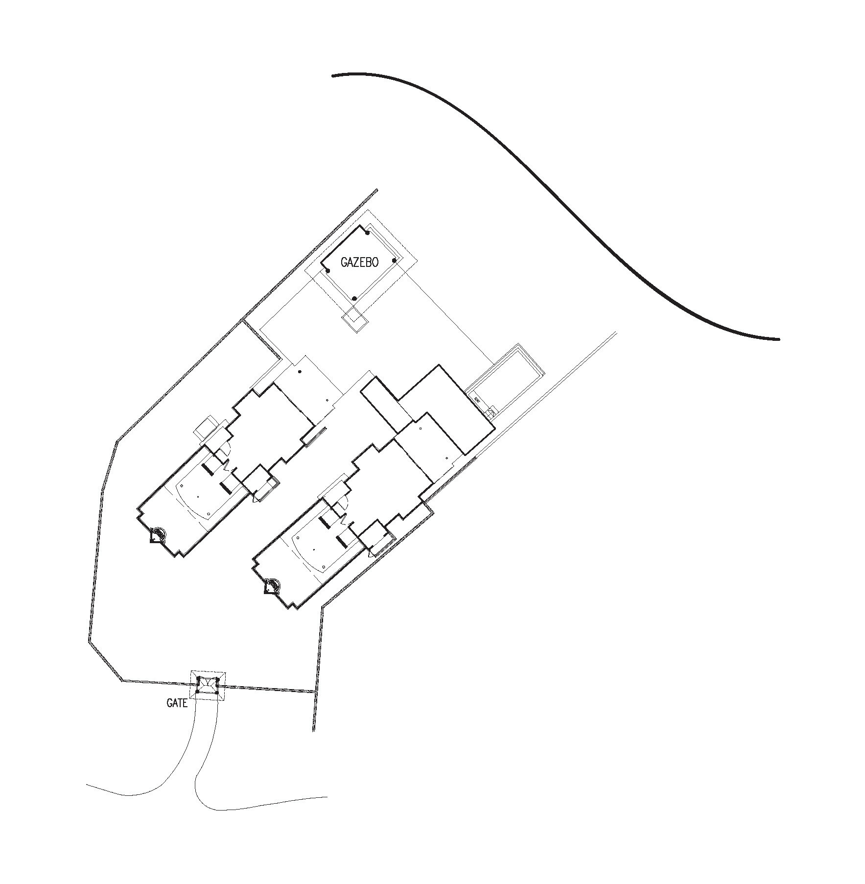 Мальдивы, отель Dusit Thani Maldives, план-схема номера Two Bedroom Family Beach Villa with Pool