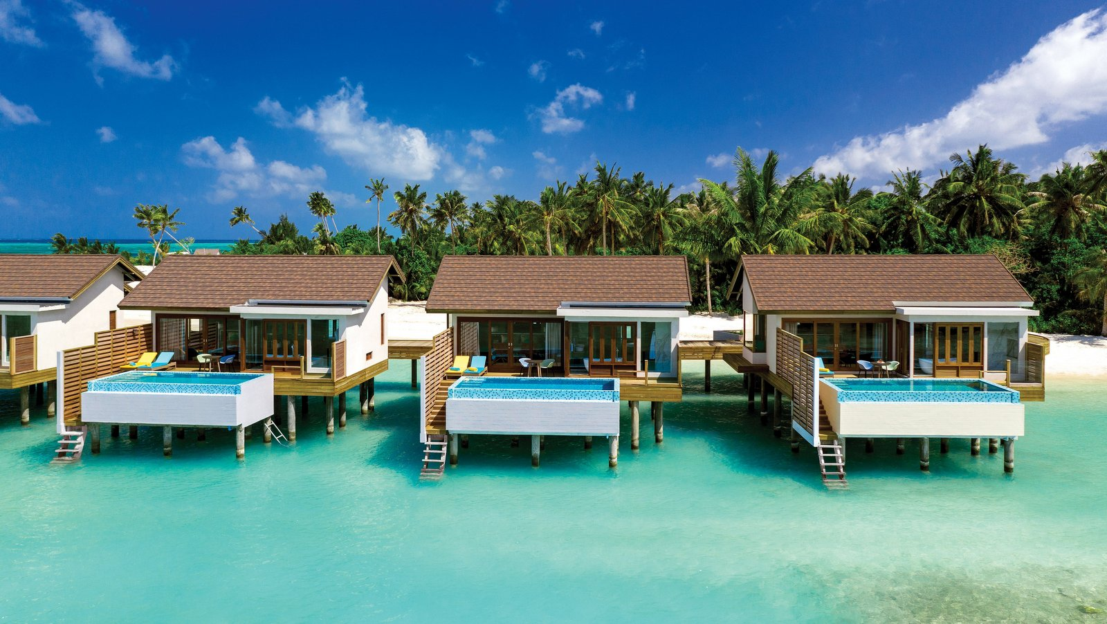 Мальдивы, отель Atmosphere Kanifushi Maldives, номер Sunset Water Villa with Pool
