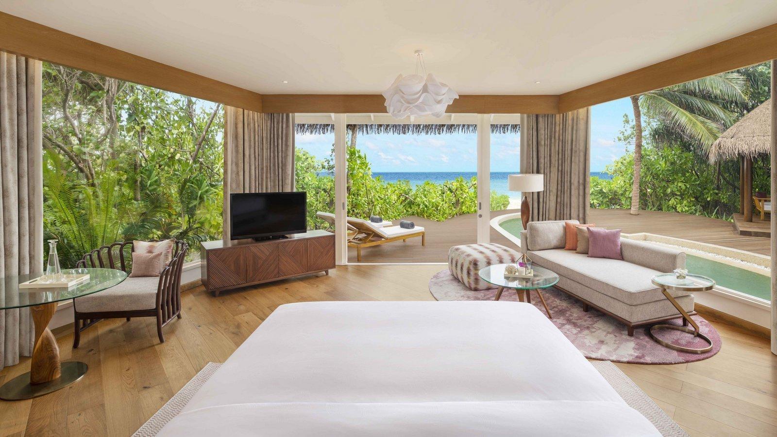 Мальдивы, отель JW Marriott Maldives Resort, номер Duplex Beach Pool Villa