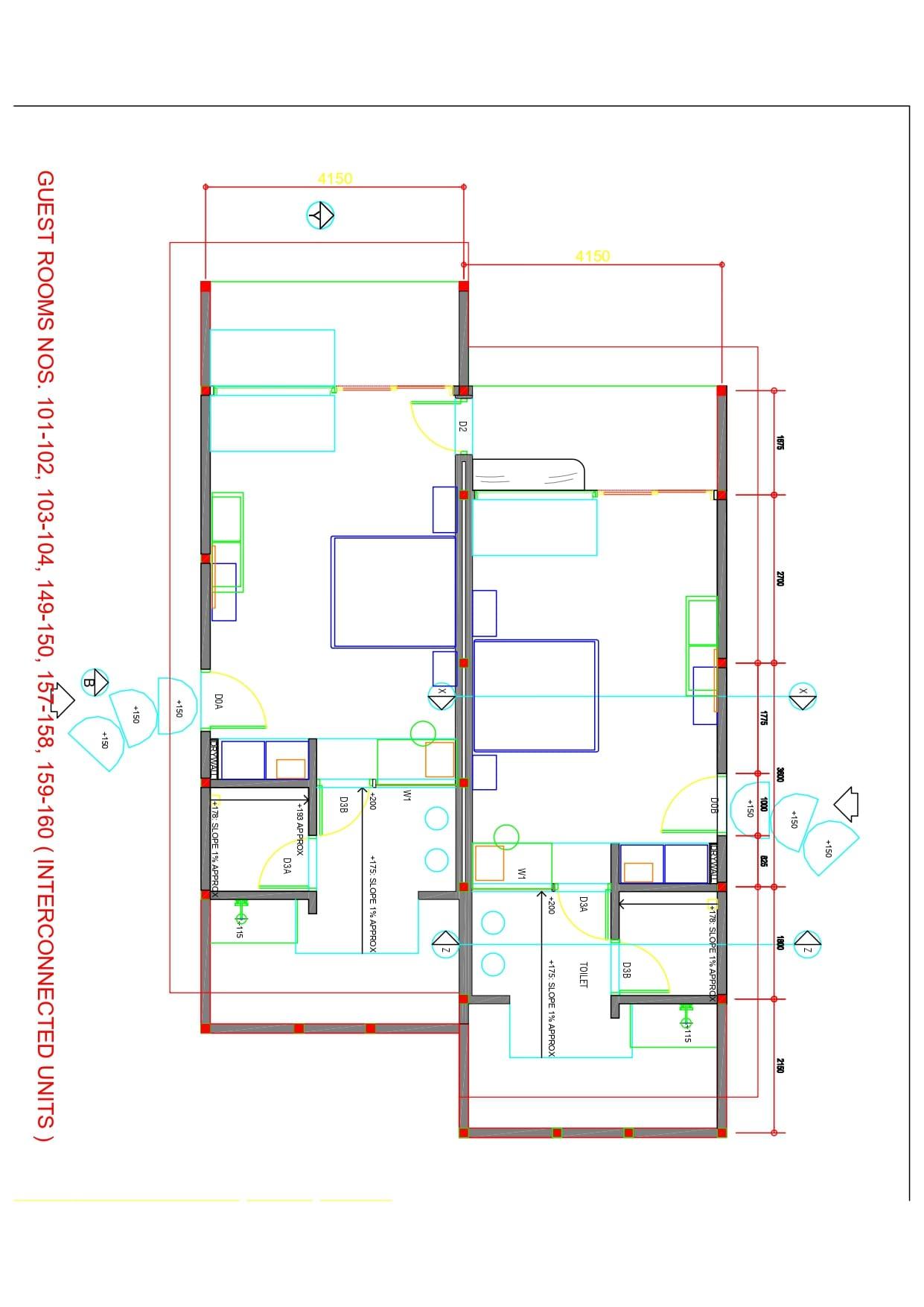 Мальдивы, отель Cocoon Maldives, план-схема номера Family Beach Villa