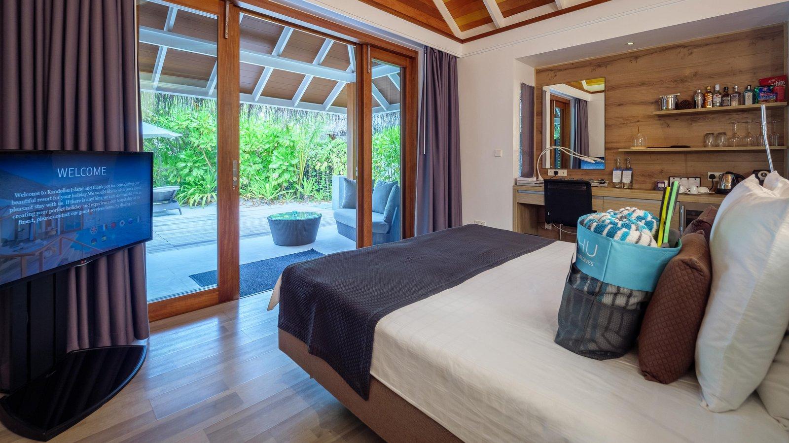 Мальдивы, отель Kandolhu Maldives, номер Jacuzzi Beach Villa
