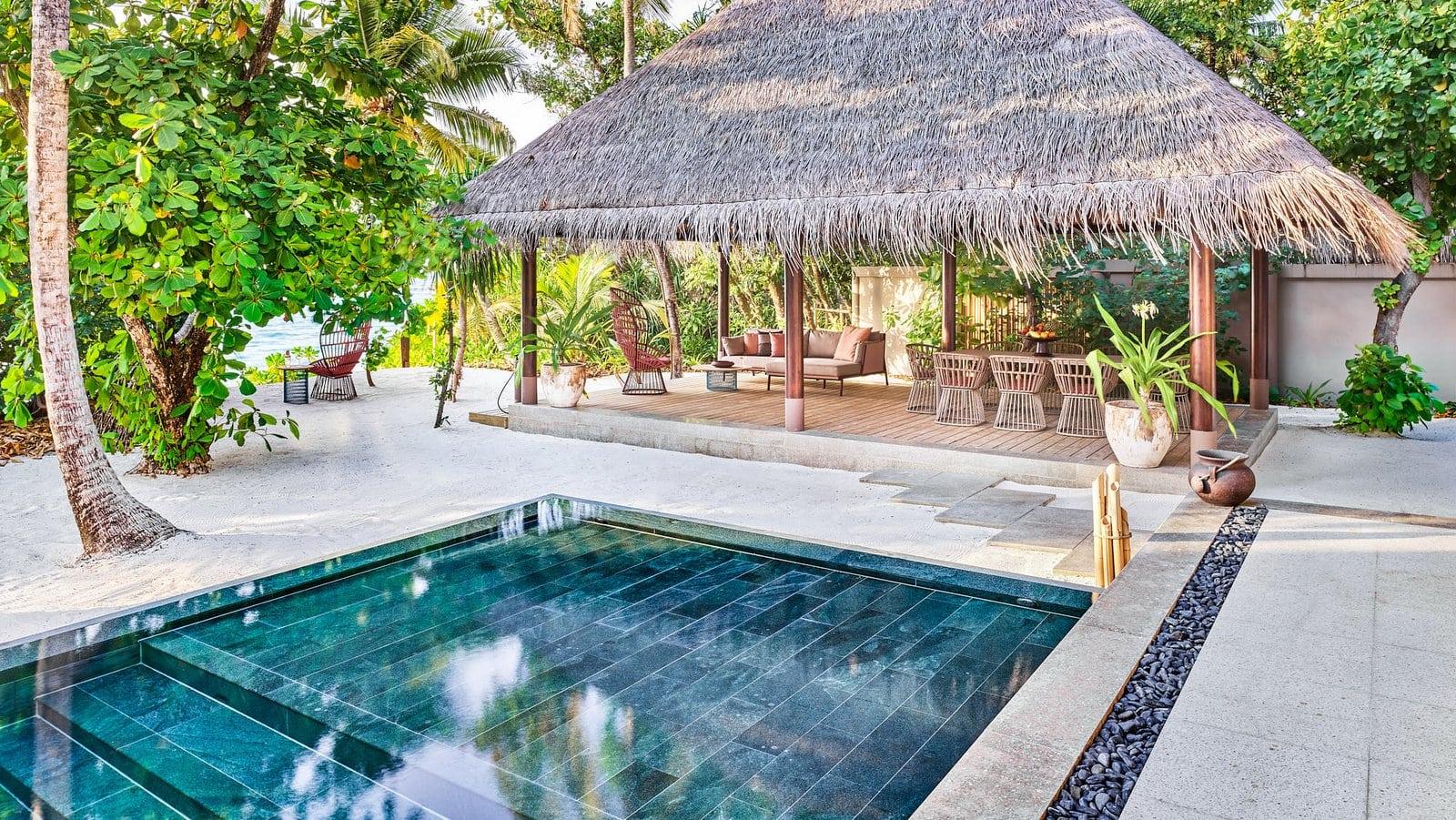 Мальдивы, отель Joali Maldives, номер Four Bed Room Beach Residence with Pool