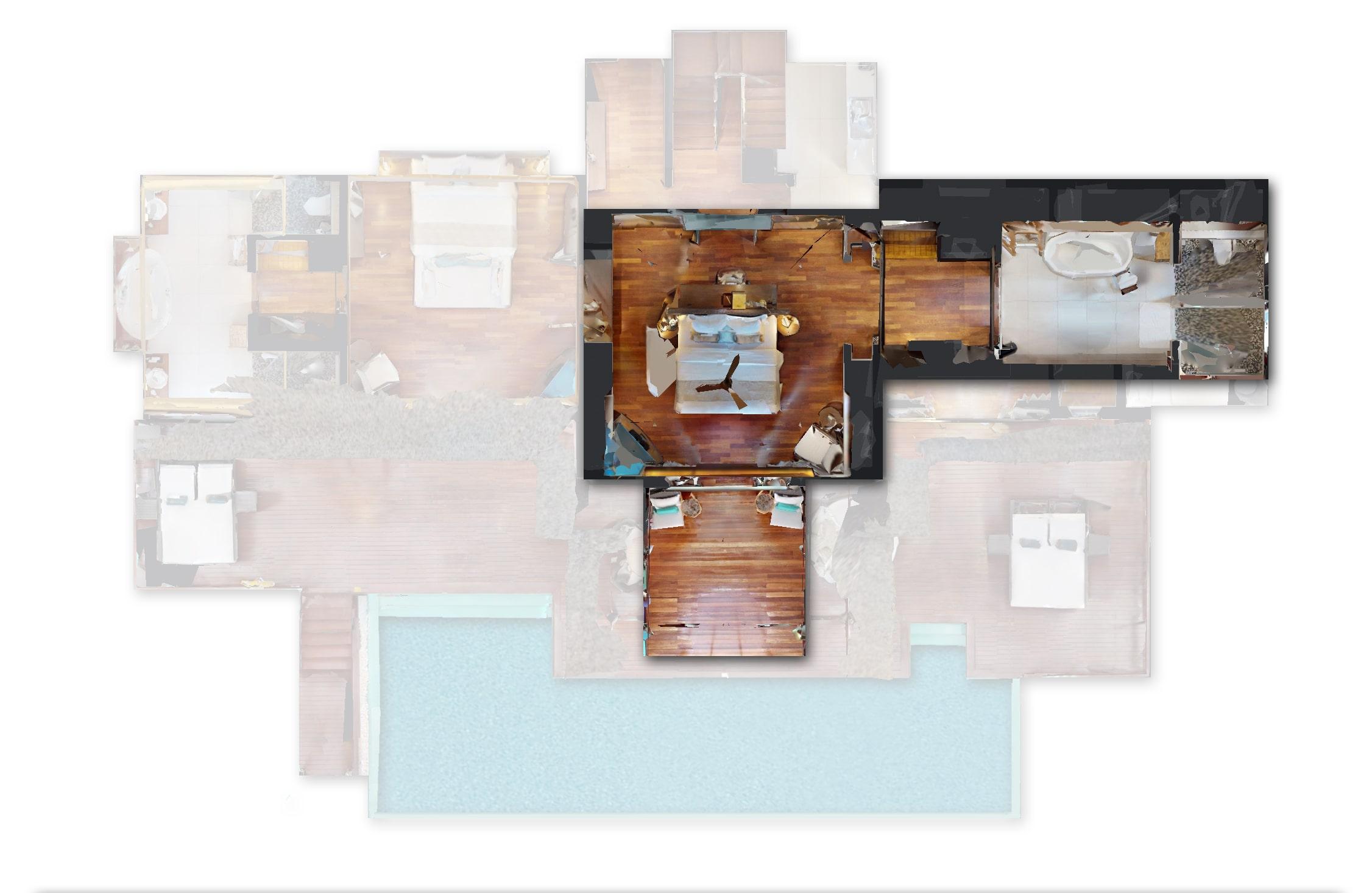 Мальдивы, отель Heritance Aarah, план-схема номера Ocean Residence
