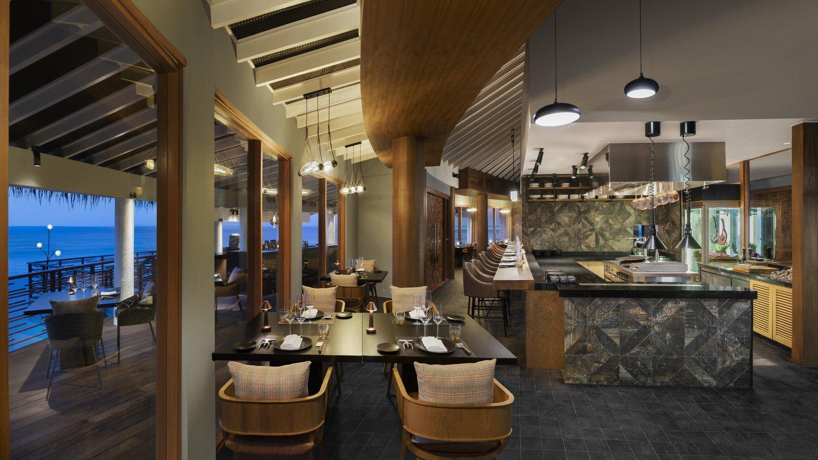 Мальдивы, отель JW Marriott Maldives Resort, ресторан Shio