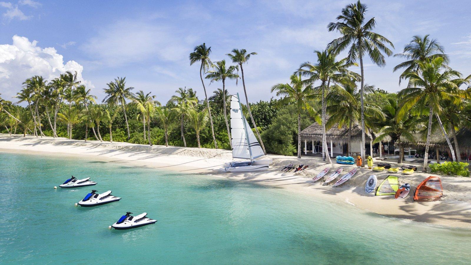 Мальдивы, отель JW Marriott Maldives Resort, пляж