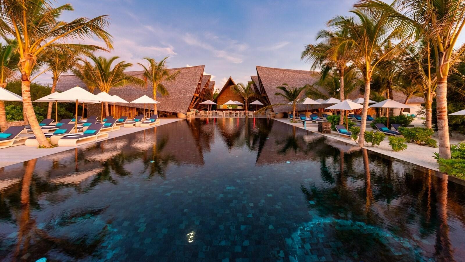 Мальдивы, отель Movenpick Resort Kuredhivaru Maldives, ресторан Latitude 5.5