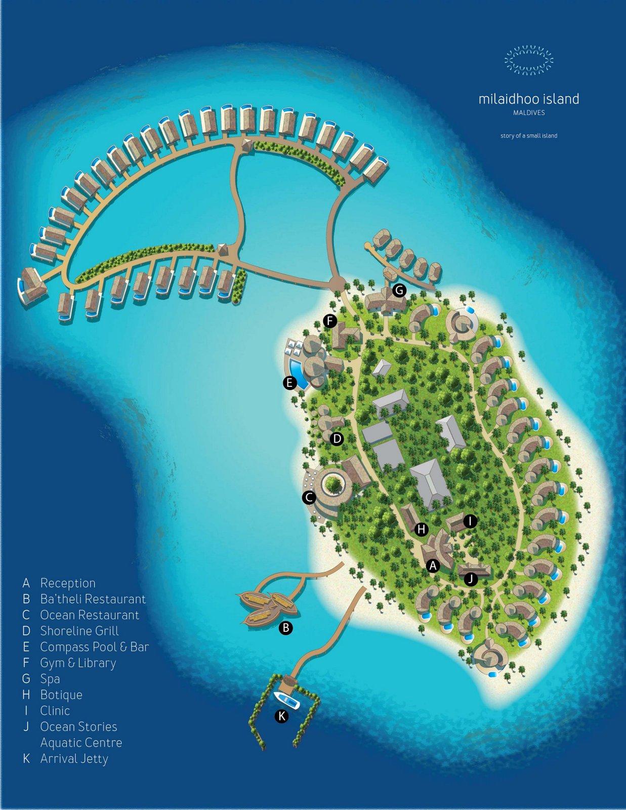 Мальдивы, Milaidhoo Island Maldives, карта отеля