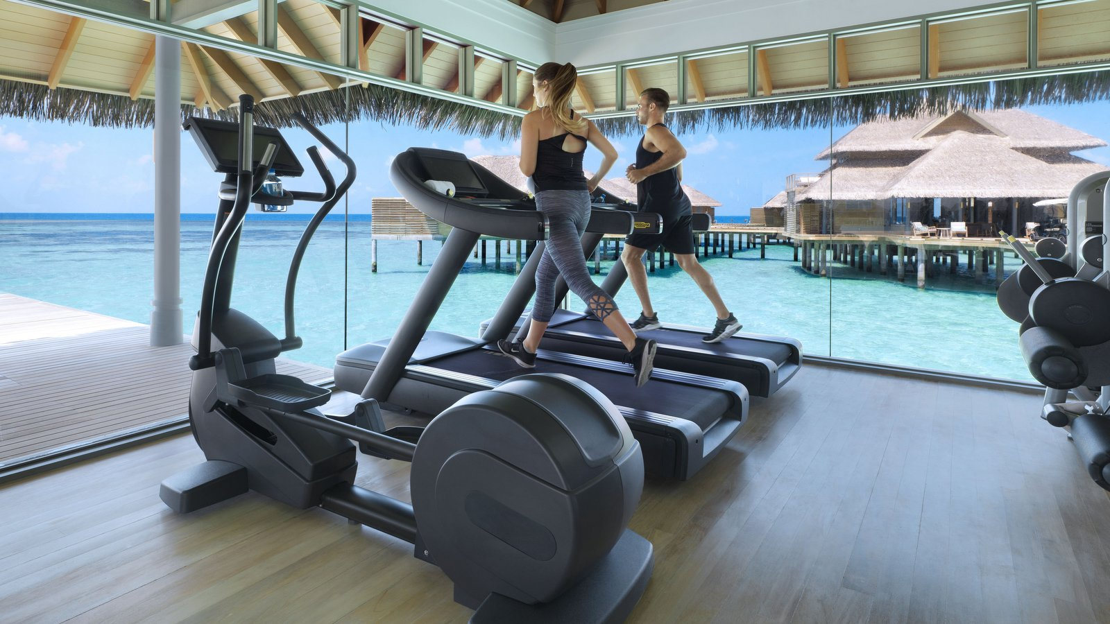 Мальдивы, отель Vakkaru Maldives, фитнес центр