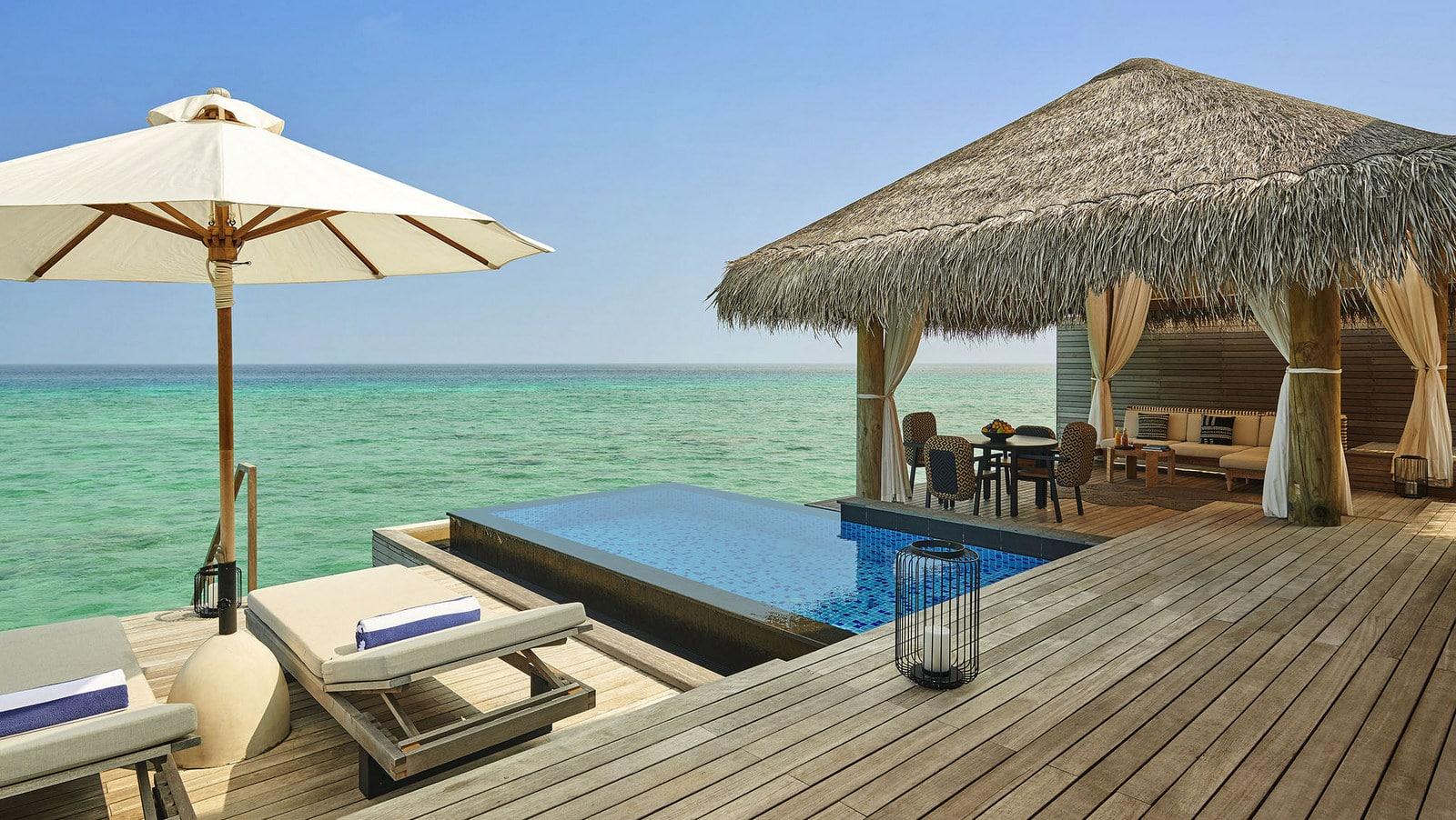 Мальдивы, отель Fairmont Maldives Sirru Fen Fushi, номер Two Bedroom Water Villa