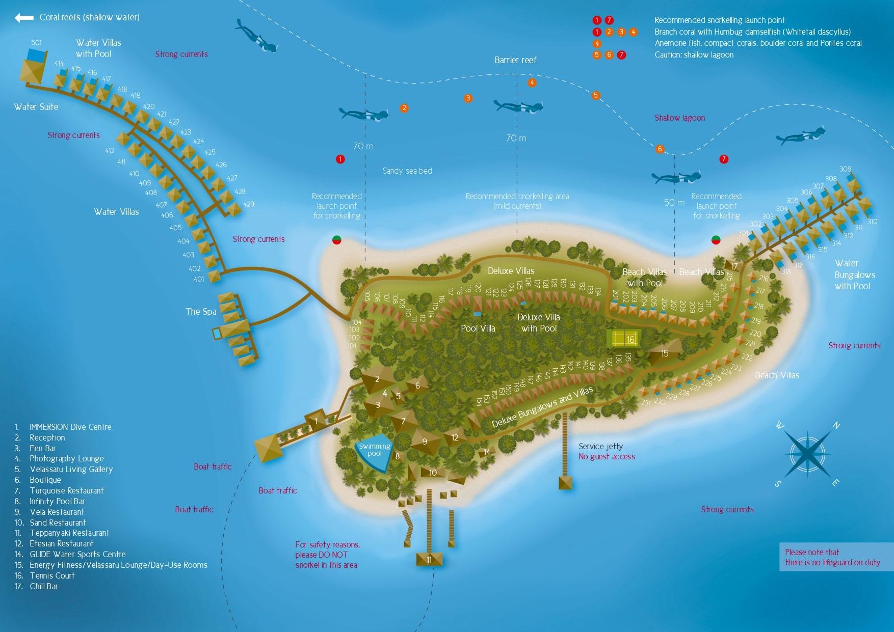 Мальдивы, Velassaru Maldives, карта отеля
