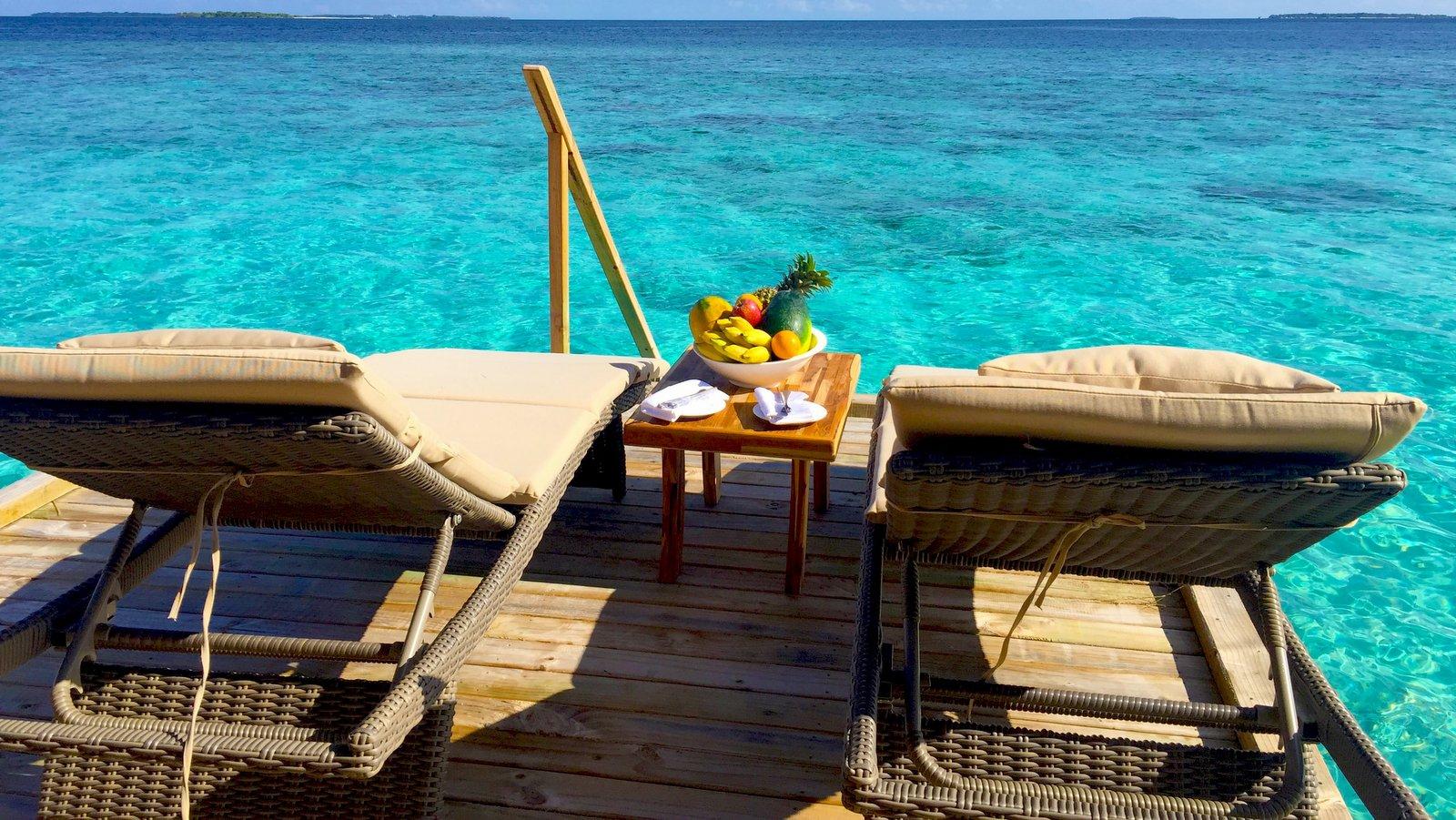 Мальдивы, отель Kudafushi Resort, номер Water Villa