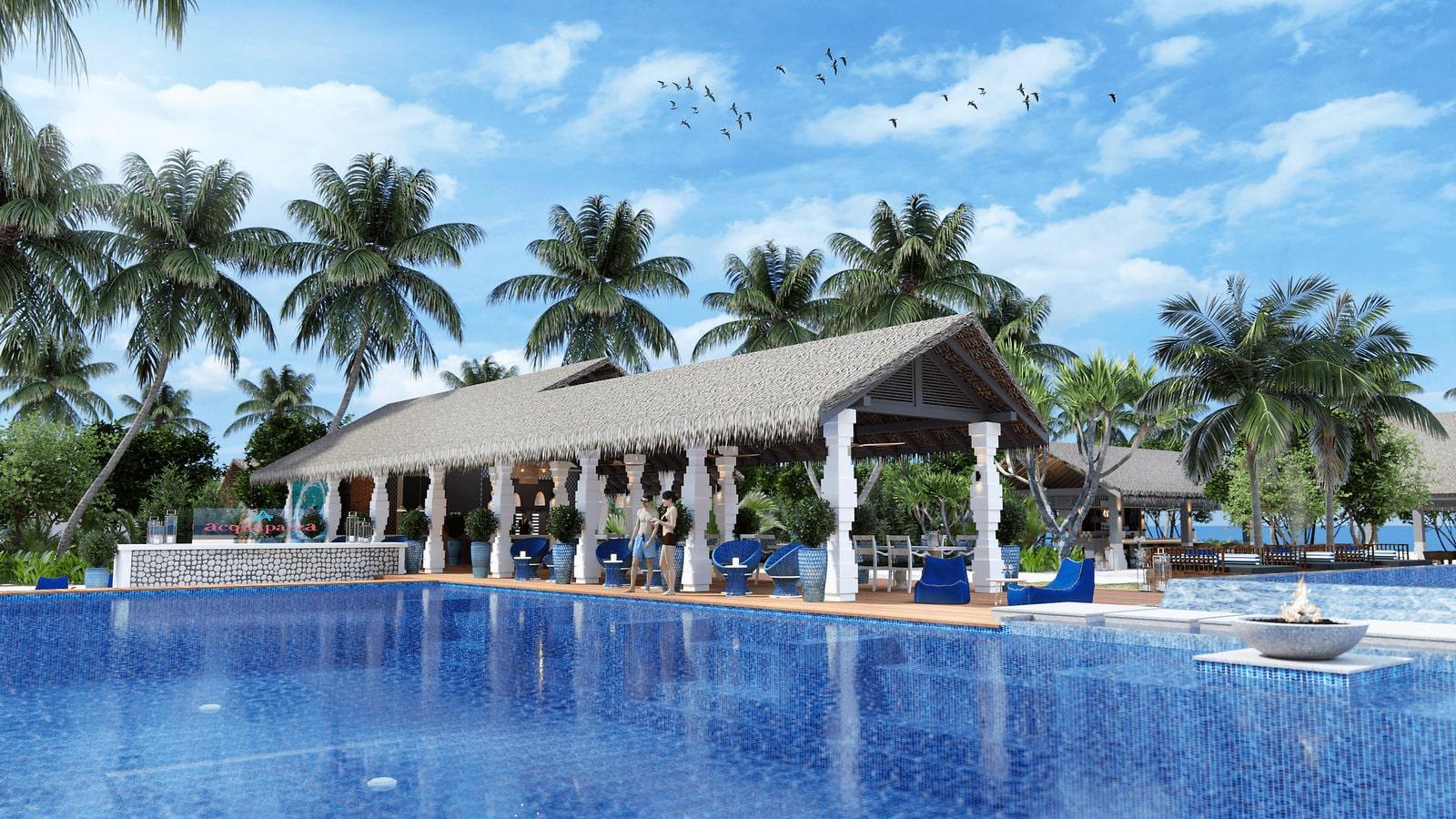 Мальдивы, отель Cora Cora Maldives, ресторан Acquapazza