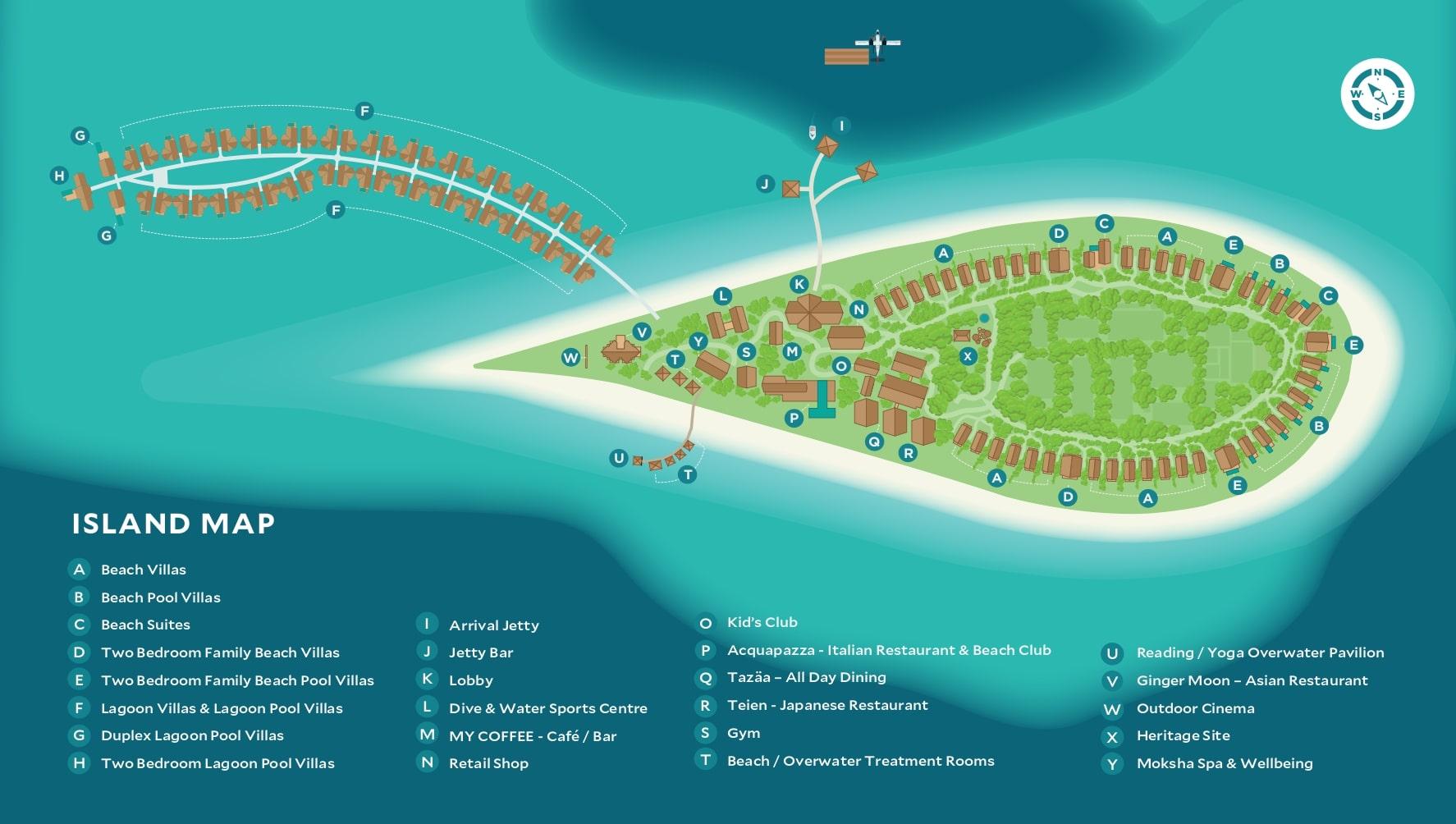Мальдивы, Cora Cora Maldives, карта отеля