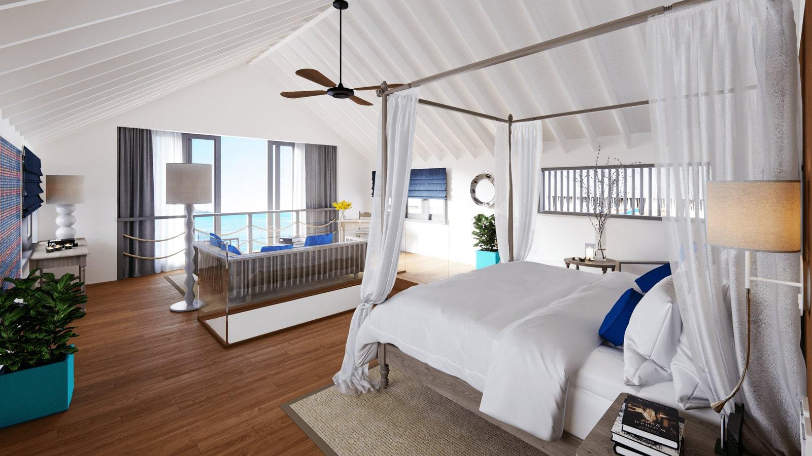 Мальдивы, отель Cora Cora Maldives, номер Duplex Lagoon Pool Villa
