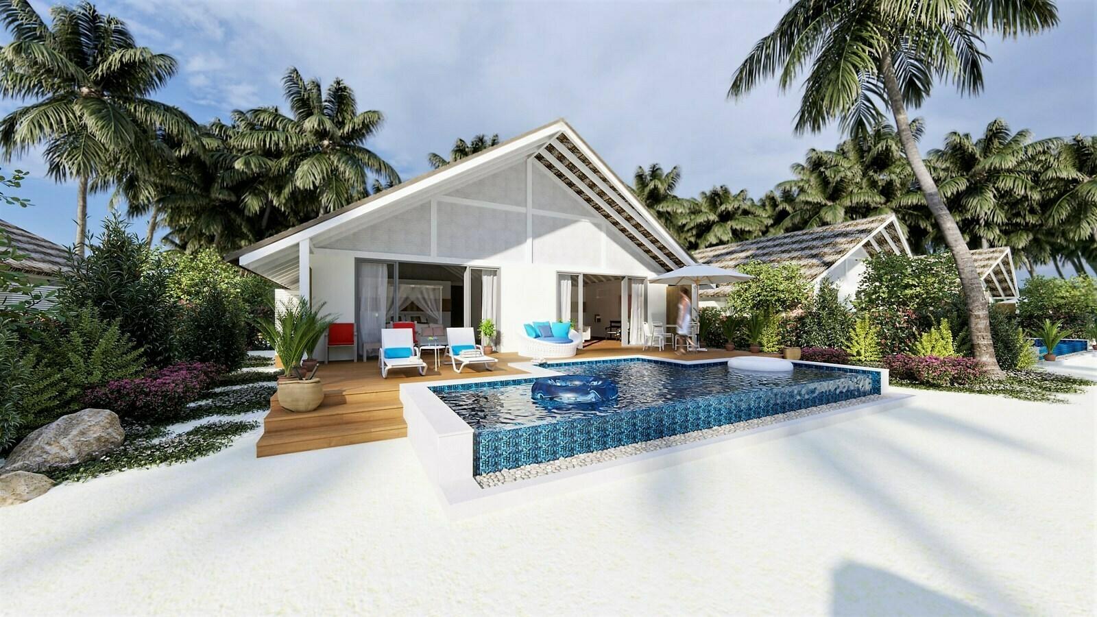 Мальдивы, отель Cora Cora Maldives, номер Two Bedroom Family Beach Pool Villa