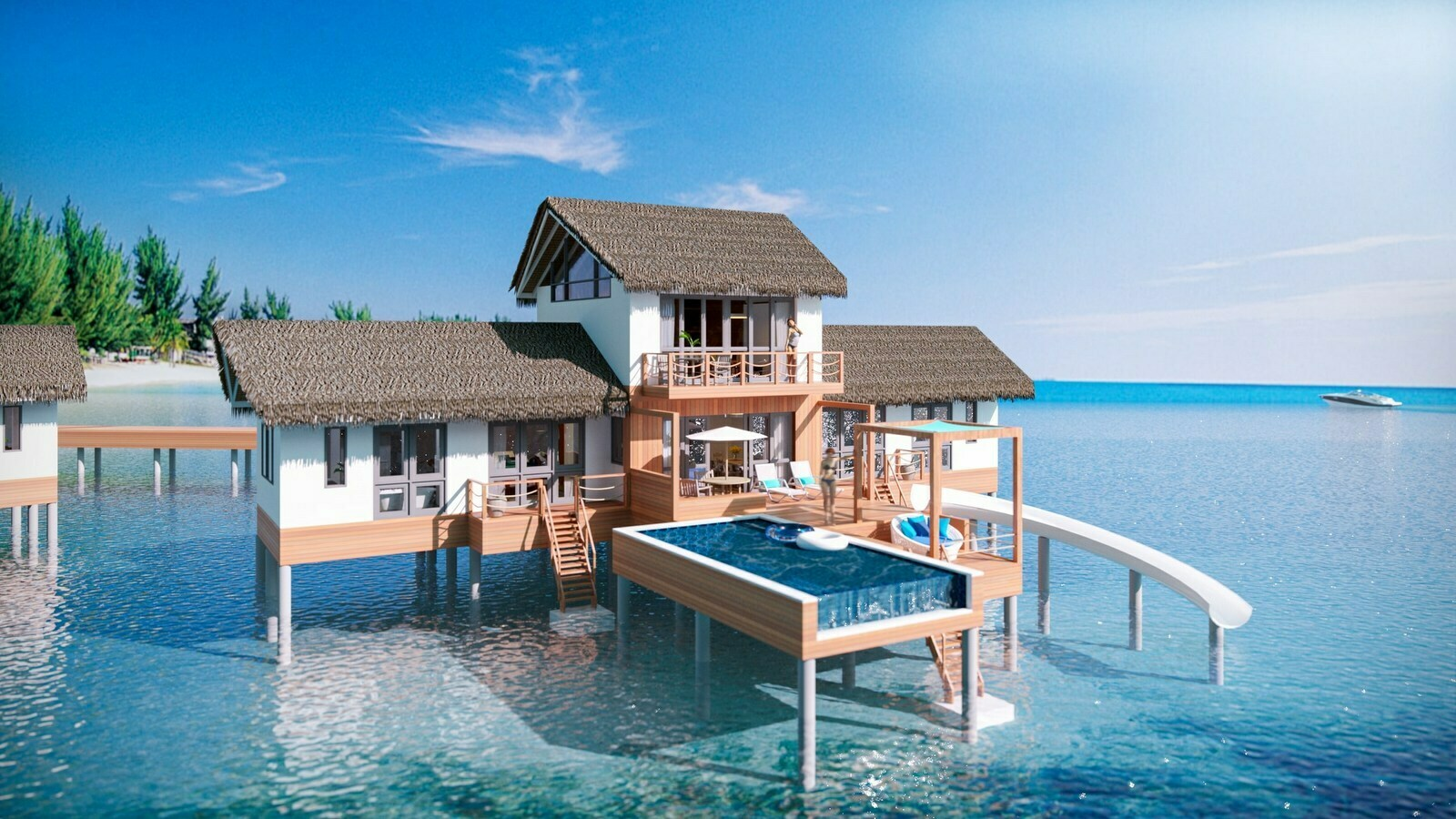 Мальдивы, отель Cora Cora Maldives, номер Two Bedroom Lagoon Pool Villa