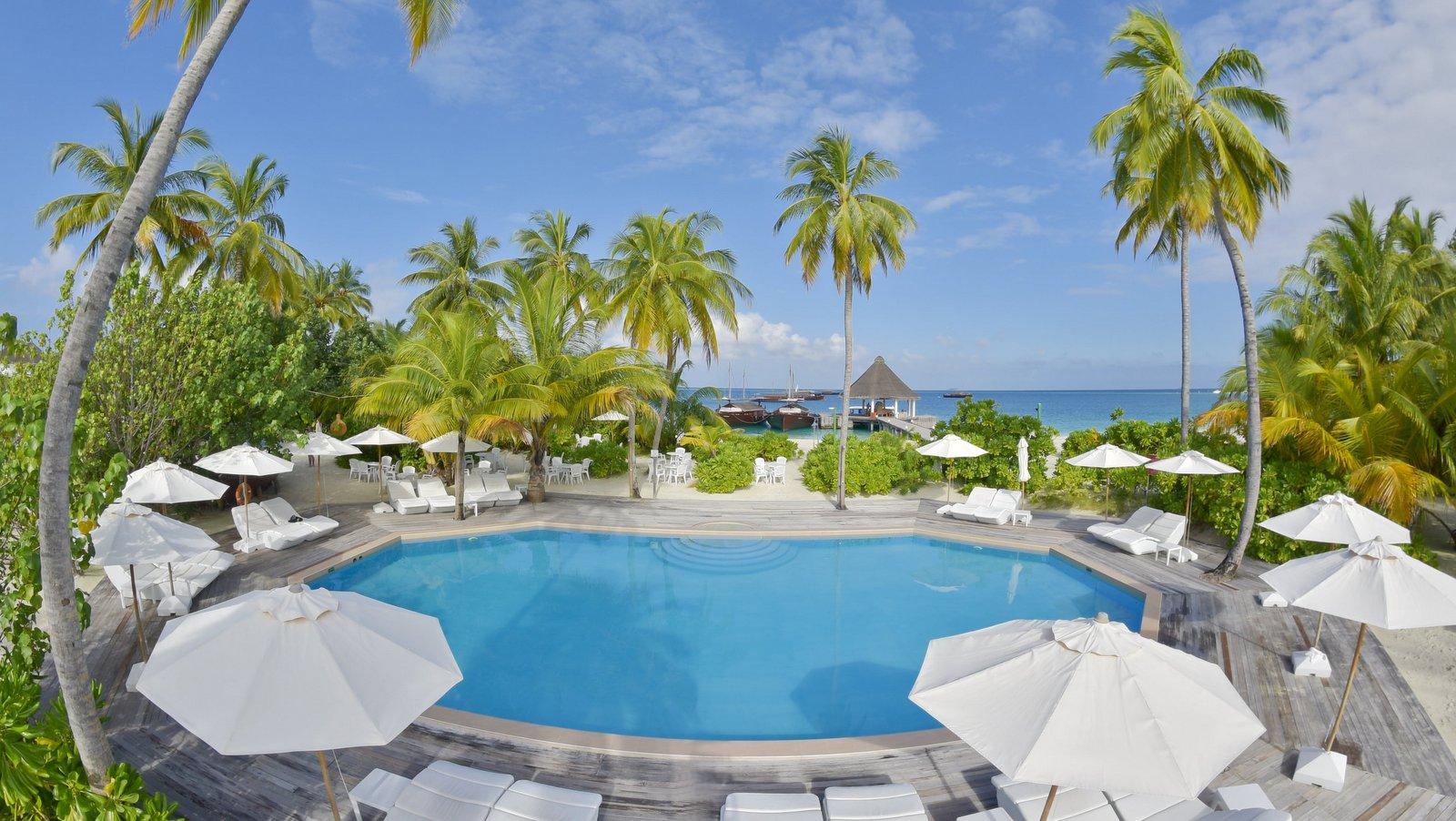 Мальдивы, отель Safari Island Resort & Spa, бассейн